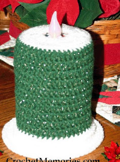 http://www.crochetmemories.com/blog/festive-candle/#more-1621