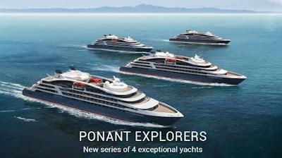 Ponant Cruises - 4 New Mega Yachts