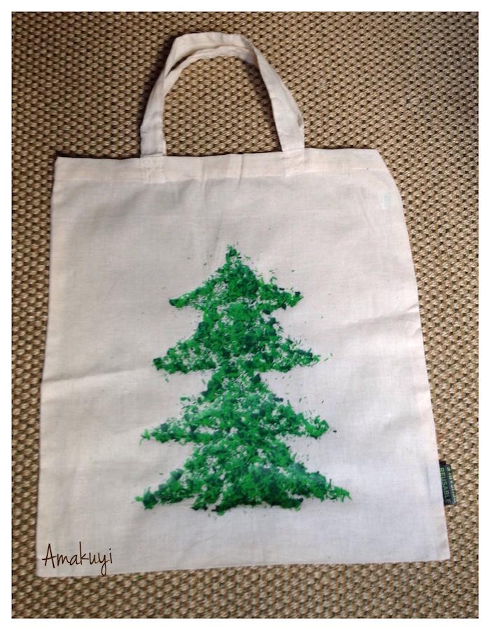 DIY Cómo decorar una tote bag (o bolsa de tela personalizada) con pinturas de cera