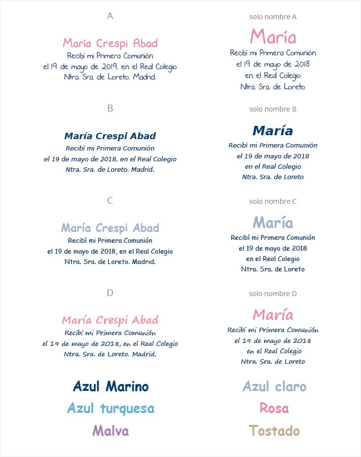 tipografia invitacion comunion