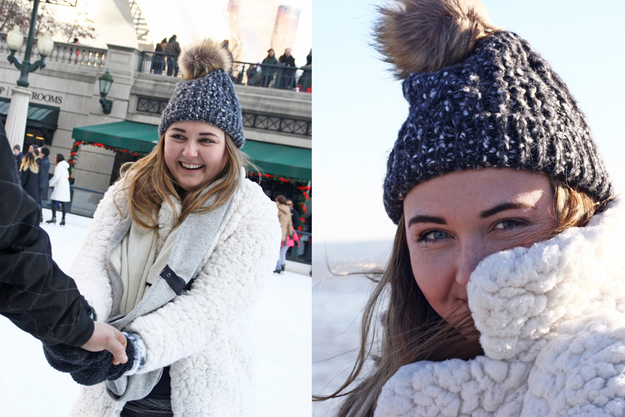Chicago Travel Tips, Windy City Travel Guide, Travel Blogger, Lifestyle Blogger, College Blogger, Ice Skating at the Bean