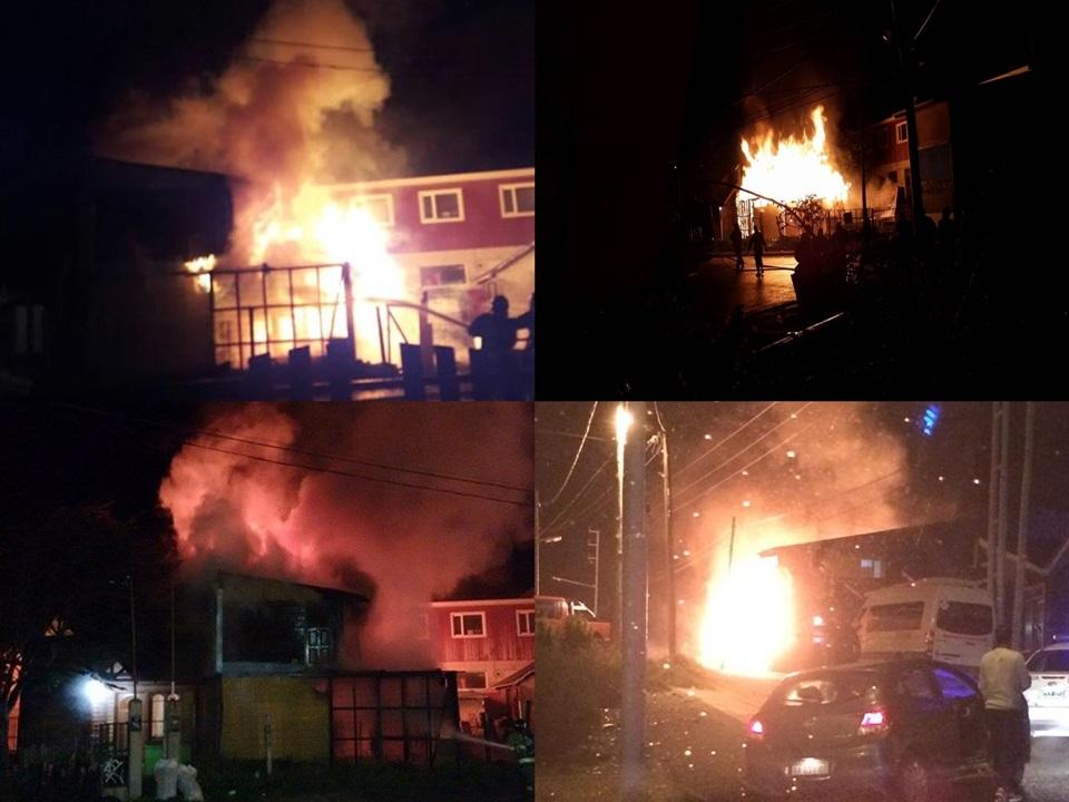 Incendio intencional en Ushuaia