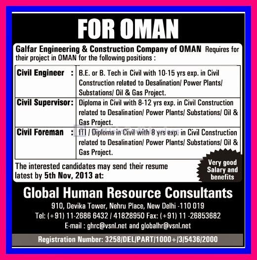 Galfar Engineering & Construction Company Oman ~ Computer Technicians