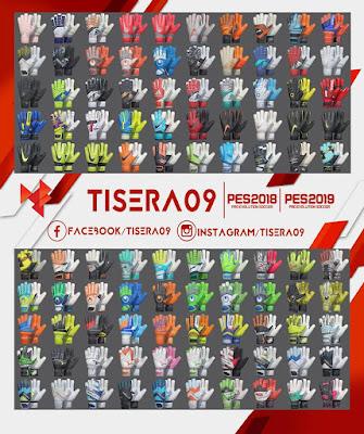 PES 2019 / PES 2018 Glovepack v8 Season 2018/2019 by Tisera09
