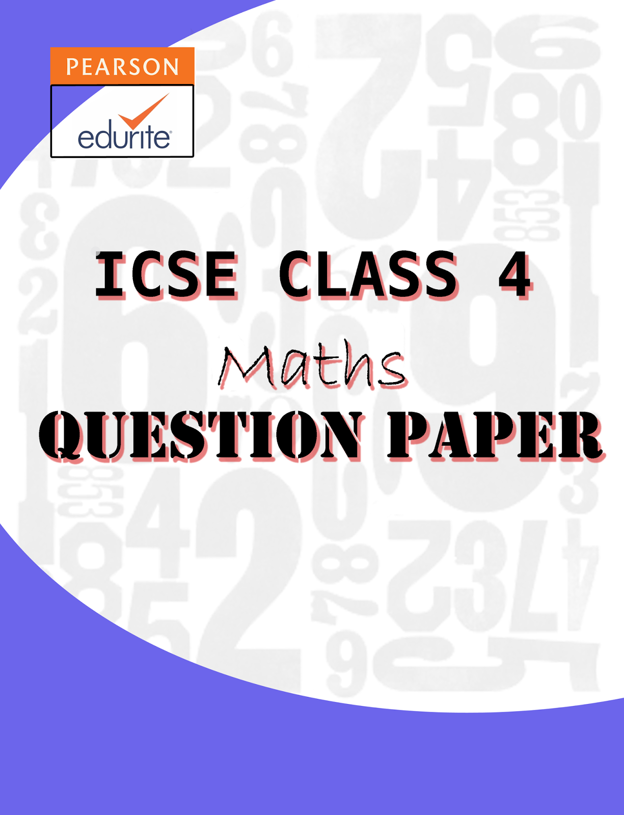 Icse Board Icse Class 4 Maths Question Paper