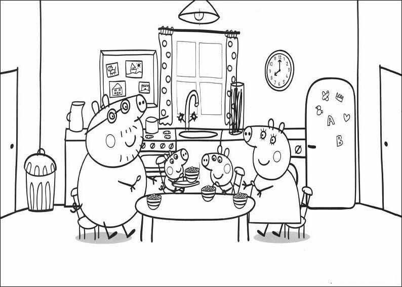 Dibujos De Peppa Pig Para Colorear En Grande Pulsera Pandora Corte