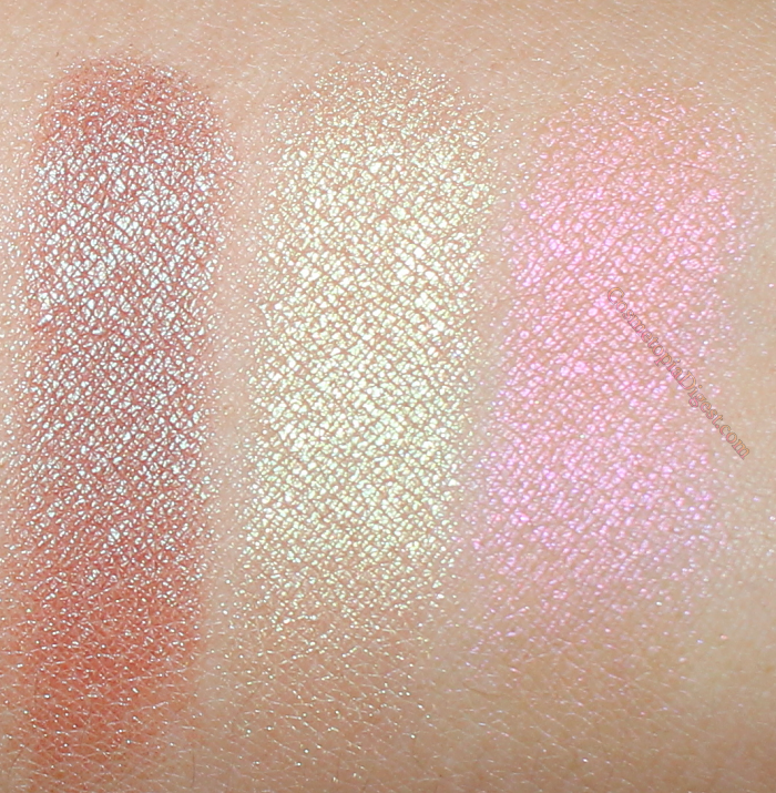 Makeup Geek Duochrome Eyeshadows: Havoc, Karma, and Mai Tai.