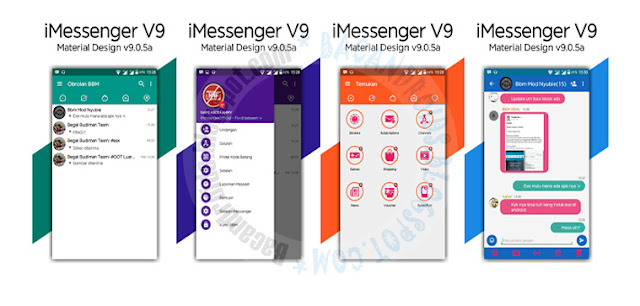 BBM Mod iMessenger v9.0.5a Base Versi 3.2.0.6 Apk Terbaru