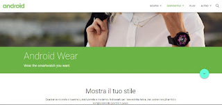 Sito ufficiale Android Wear