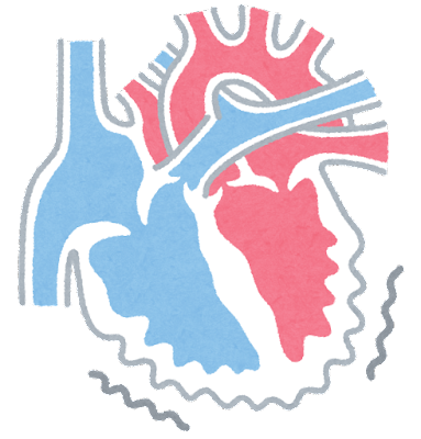 心室細動のイラスト