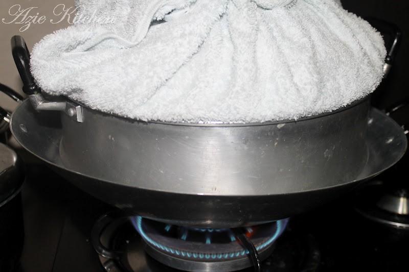 puding roti pandan kukus  jamuan  pejabat azie kitchen Resepi Bahan Bahan Kek Kismis Enak dan Mudah