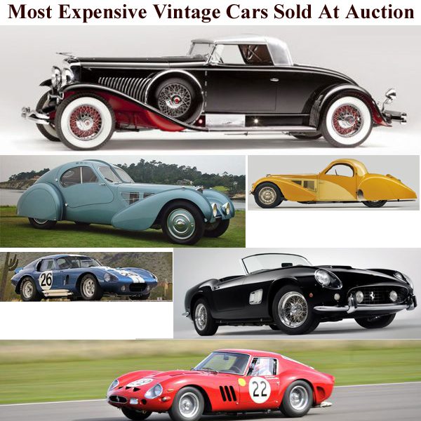 Share Good Stuffs: 15 Most Expensive Vintage Cars Sold At