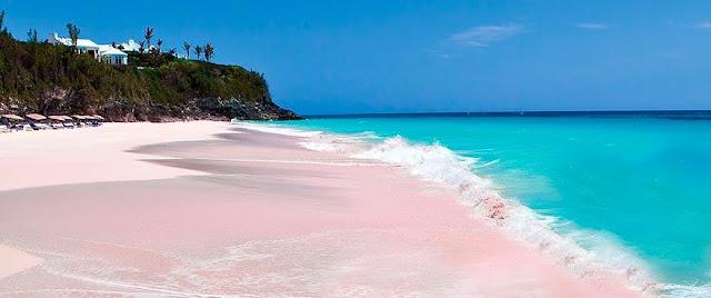 Różowe plaże