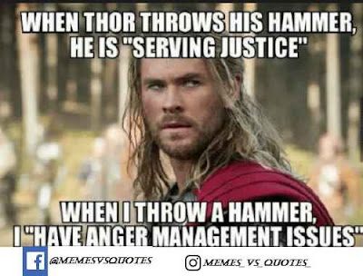 When thor throws his hammer
