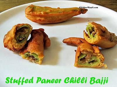 Stuffed Paneer Chilli Bajji