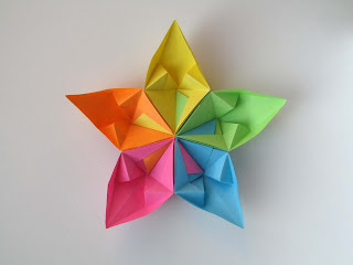 Origami modulare Stella aquilone, retro - Kite Star, back, by Francesco Guarnieri