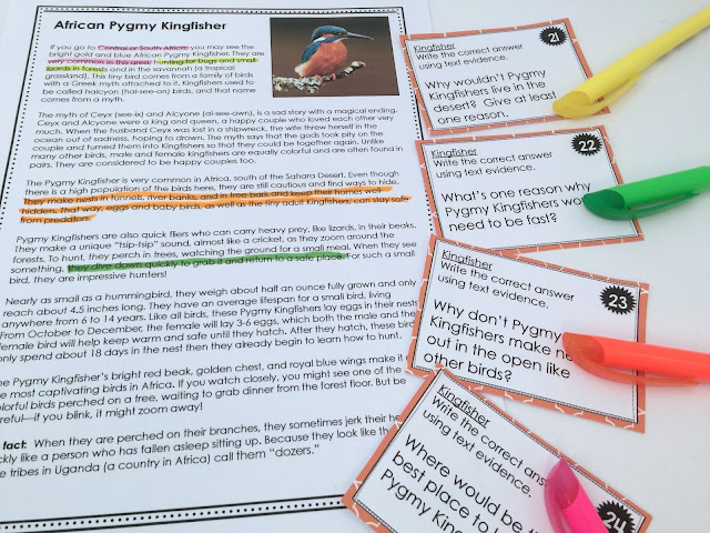 color-coding highlighting text evidence