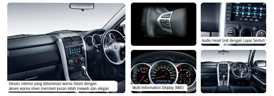 Interior All New Grand Vitara 2.4
