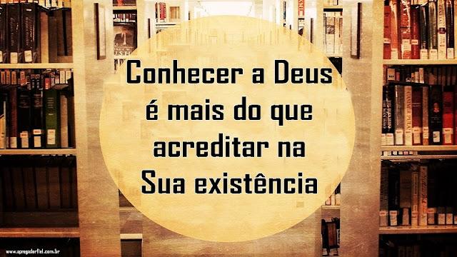 Conhecer a Deus