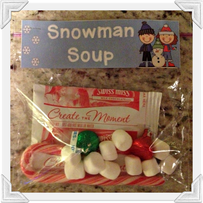 Cute Snowman Soup Recipe Idea from Pinterest