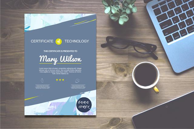 template sertifikat cdr bisa di edit