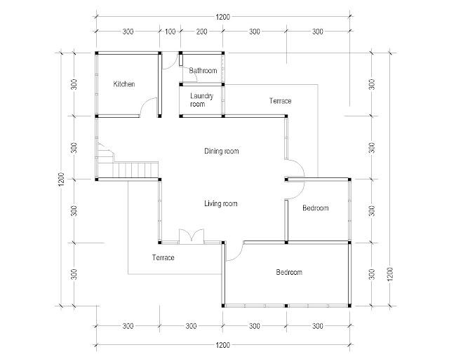 1st Floor Plan for Plan c-07