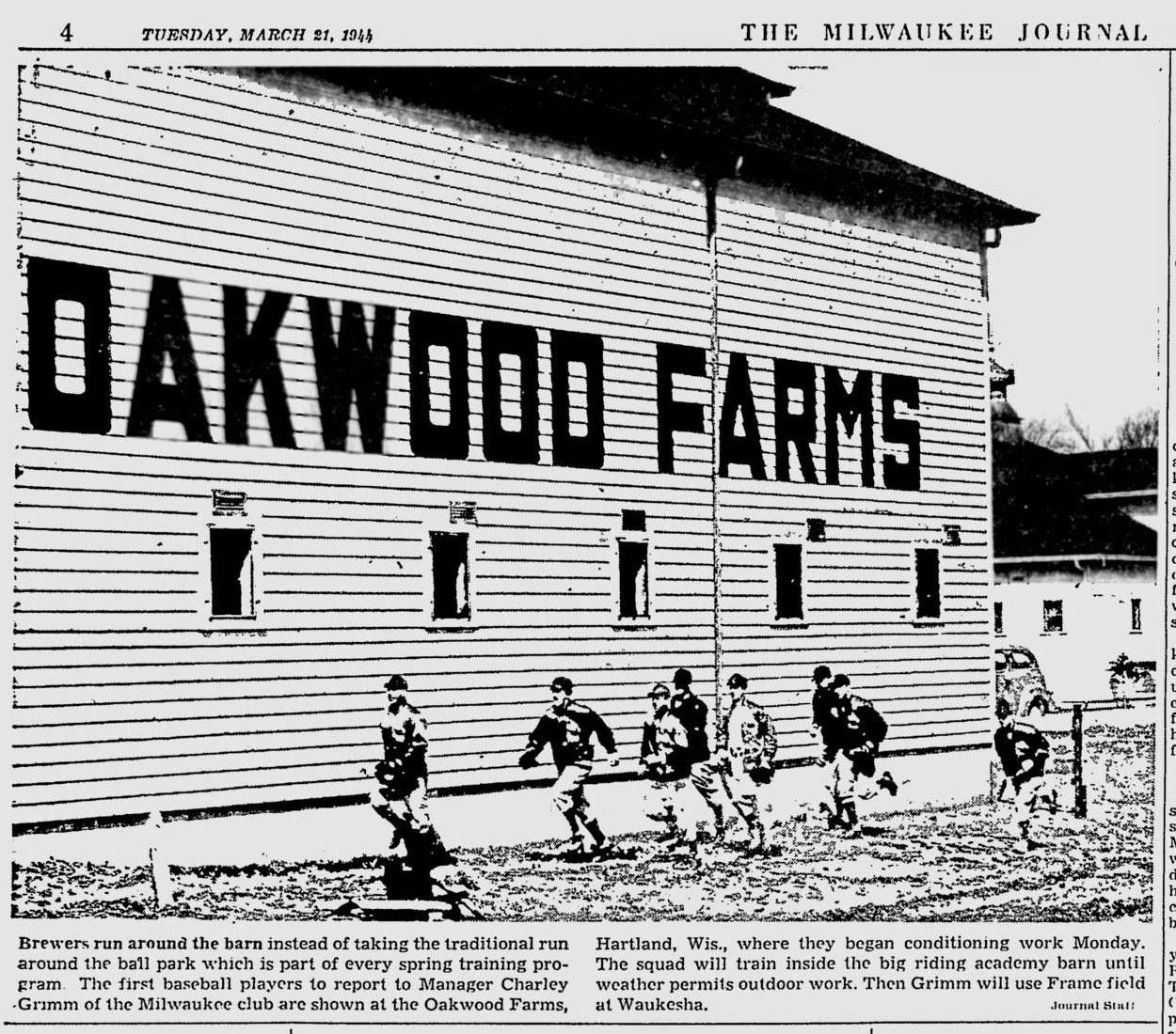 Borchert Field: Today in 1944 - Opening Spring Training