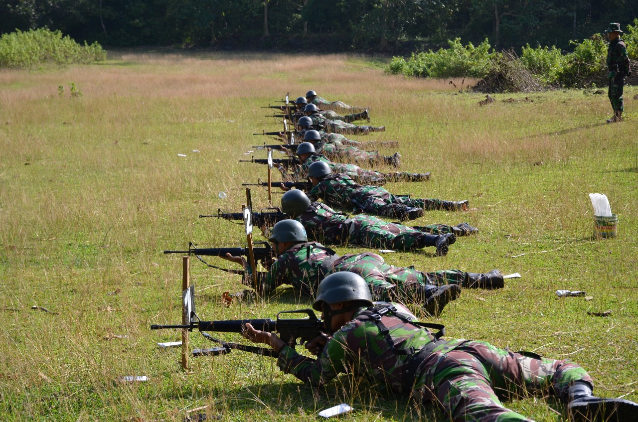 Korem 141/Tp Gelar Latihan Menembak Triwulan I
