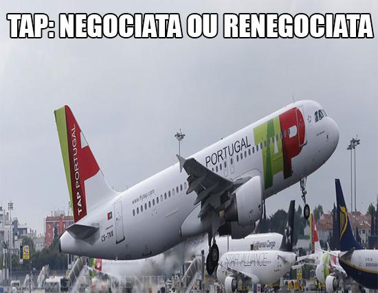 Alegadamente: Imagem de Avião TAP – TAP: Negociata ou Renegociata
