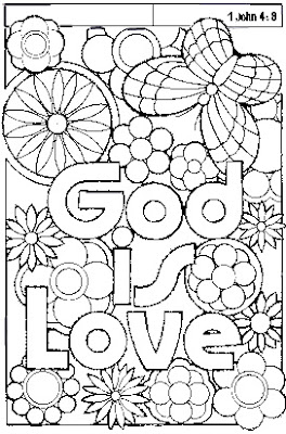 Gods Love Coloring Pages Printable
