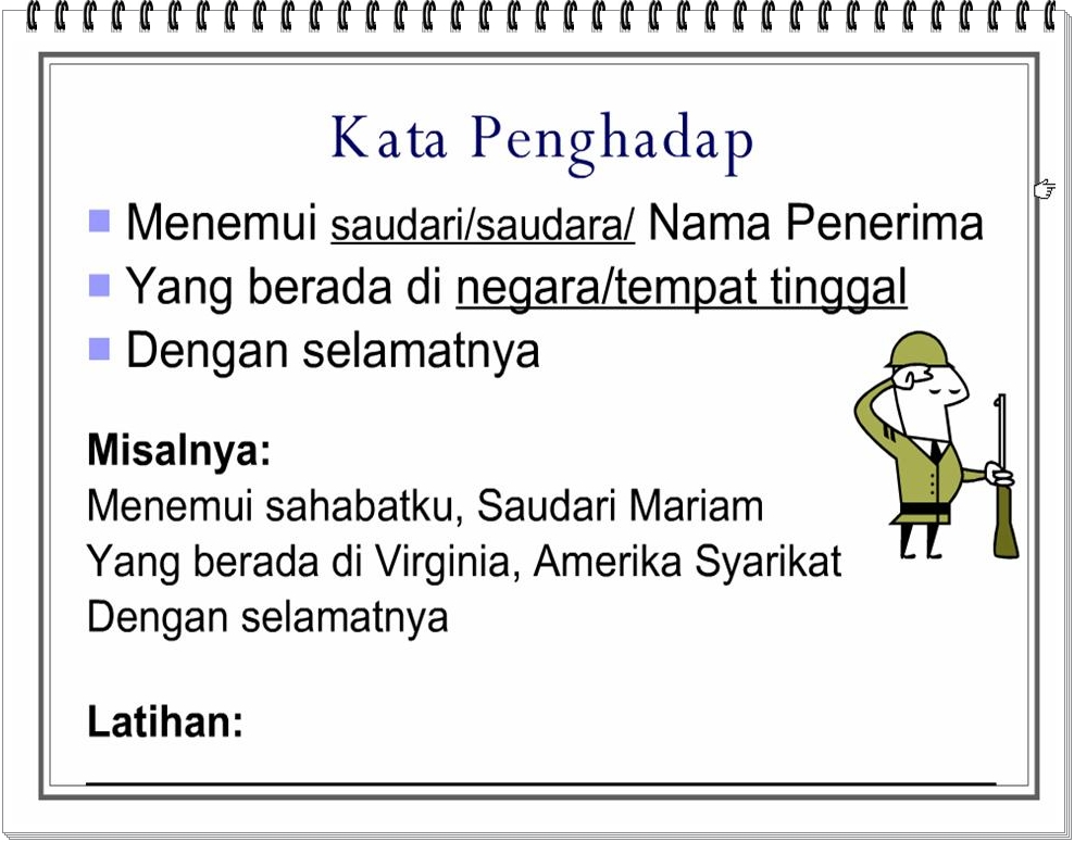 Bahasa Melayu Tingkatan 2: Surat Tidak Rasmi