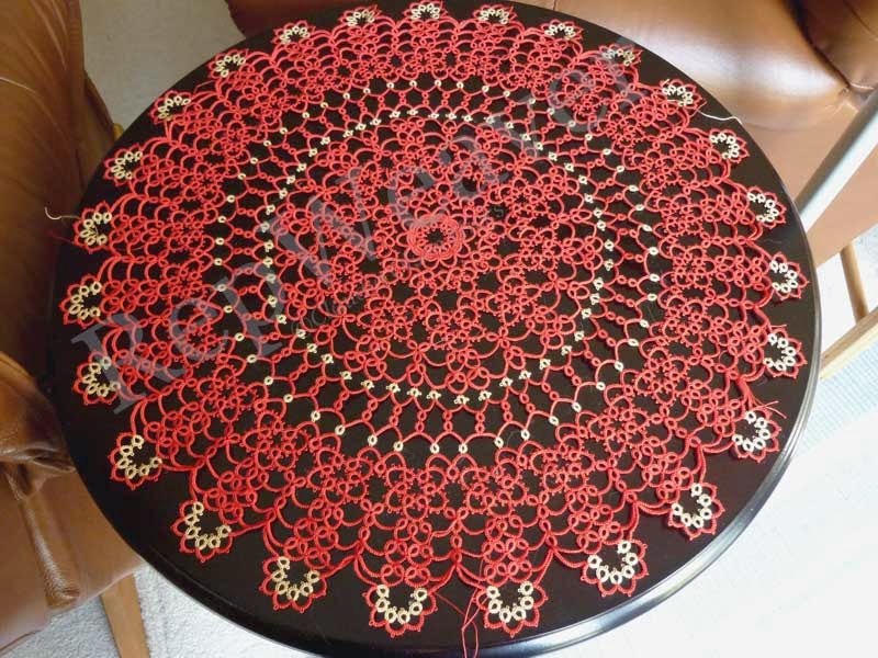Spring Doily tatted by RepWeaver