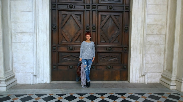 Me and a very old door
