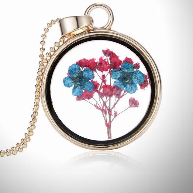 yaşayan çiçek kolye