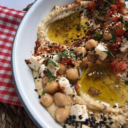 Hummus im Doppelpack ~ klassisch und mit getrockneten Tomaten
