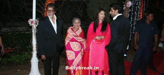 Amitabh Bachchan, Jaya Bachchan, Aishwarya Rai, Abhishek Bachchan, Ahana Deol Wedding & Reception Pics