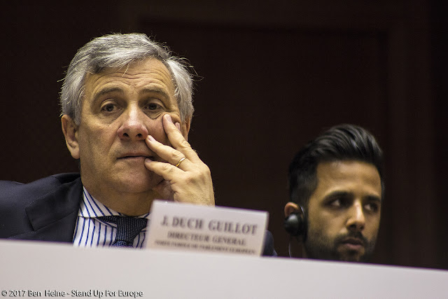 Antonio Tajani - President of the European Parliament - Photo by Ben Heine
