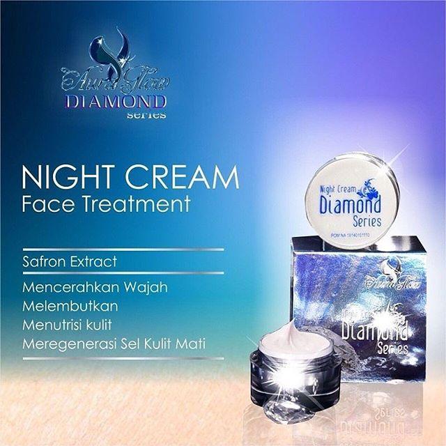 Night cream face treatment diamond series