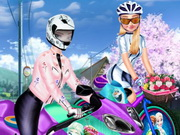 اخوات على الدراجة النارية
