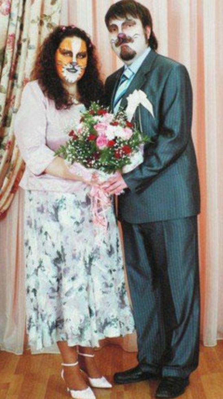Fotos bizarras de casamento