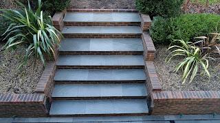 grey Indian sandstone steps