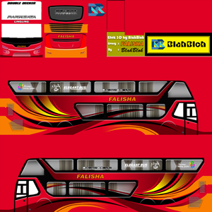 Livery Bussid Keren Double Decker Livery Bus