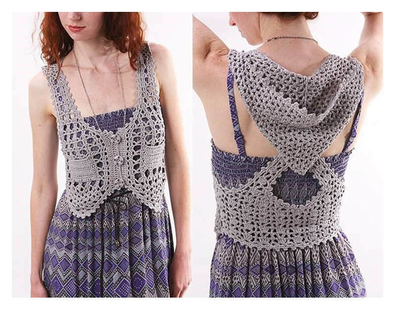 Ideas para el hogar: Chaleco crochet patrones