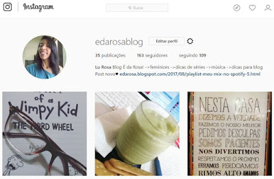 instagram do blog e da rosa