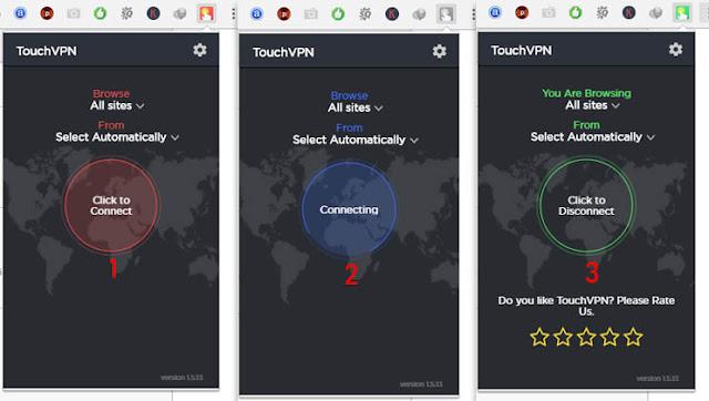 Cara Membuka situs yang diblokir di google chrome dengan Touch VPN