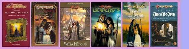 portadas del libro de fantasía épica juvenil El templo de Istar, de las Leyendas de la dragonlance