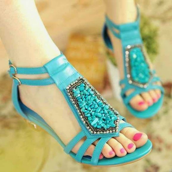 New Fashion Party Wear Flat Sandals Chappal Amp Shoes Design