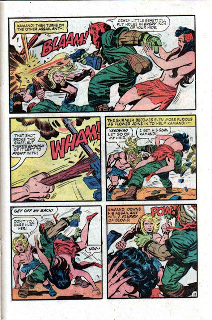 Kamandi v1 #6 dc 1970s bronze age comic book page art by Jack Kirby, Mike Royer
