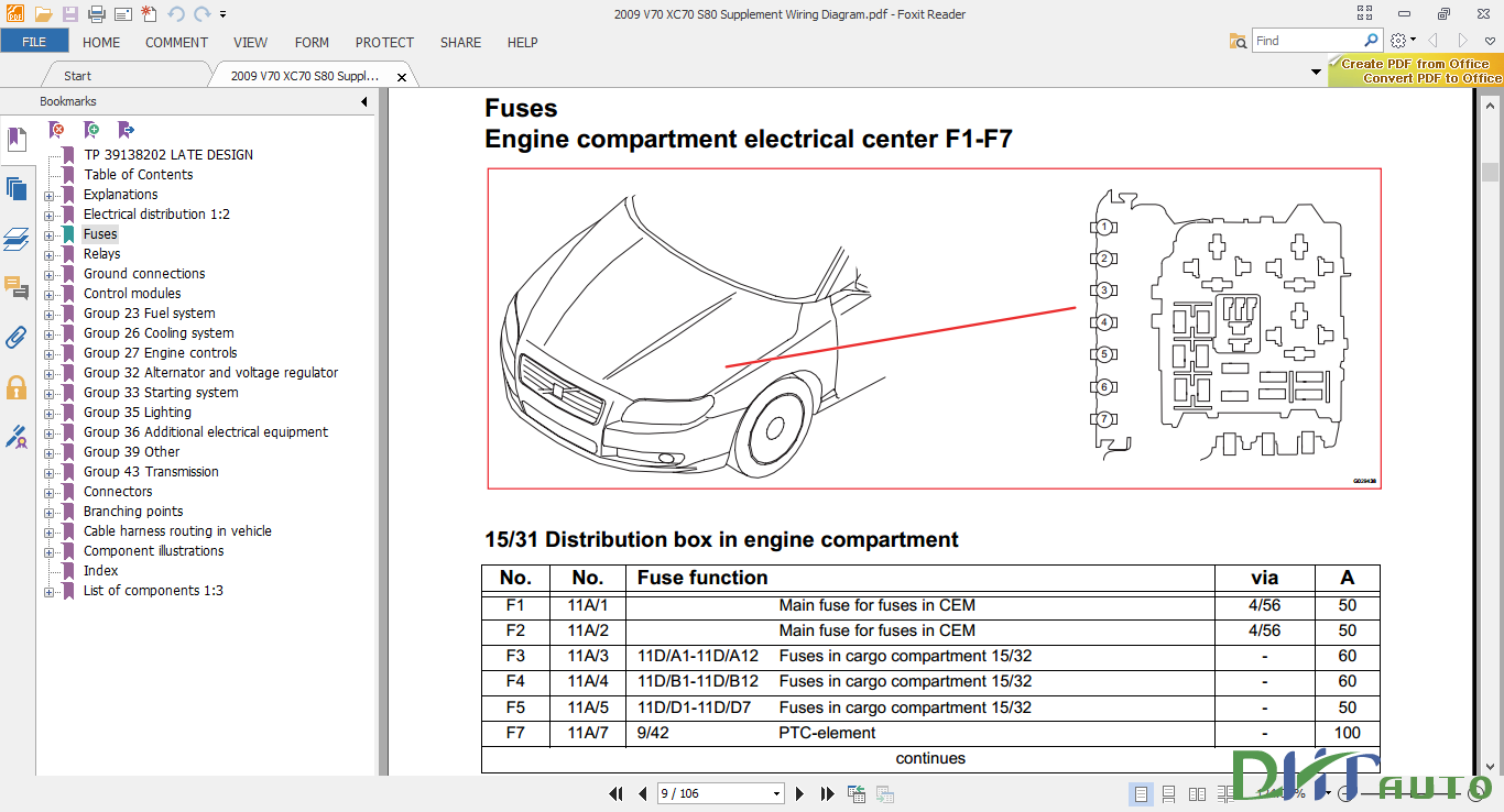 V70 Xc70 S80 2009 Supplement Wiring Diagram