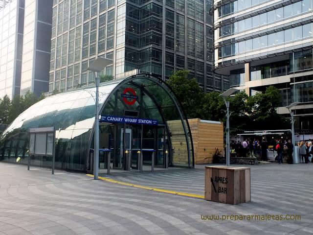 estación de metro de Canary Wharf